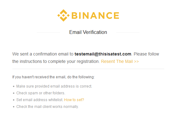 second step: verify email