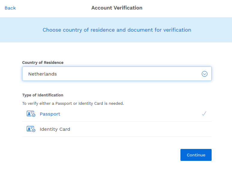 choose verification document