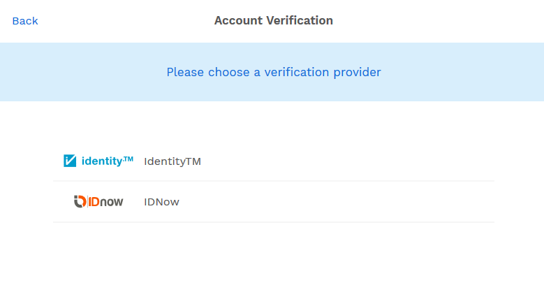 choose verification partner