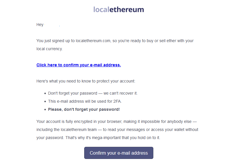 verify account at localethereum
